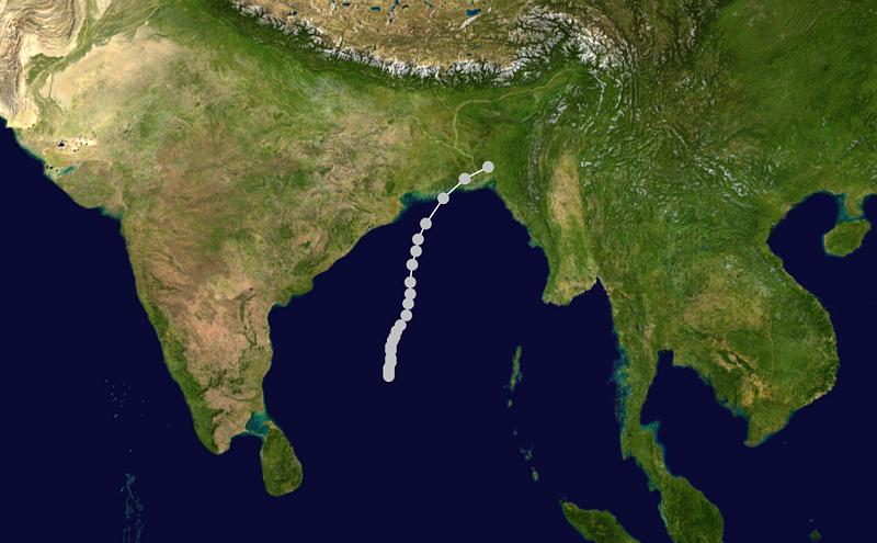 اضغط على الصورة لعرض أكبر.  الإسم:1970_Bhola_cyclone_track.png مشاهدات:178 الحجم:823.1 كيلوبايت الهوية:10222